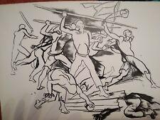 stampa in litografia originale anni 50 RENATO GUTTUSO