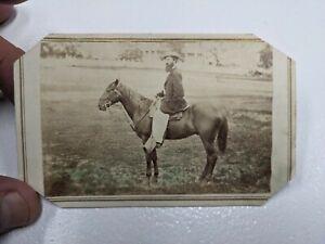 Landscape CDV Photograph Of A Man On Horseback
