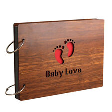 Useful Romance Baby Lovers Wood Cover Photo Album 8 Inch Memory DIY Photos Book