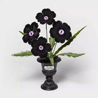 Hyde Eek Boutique Purple Eye Peeping Poppies Medium Halloween Faux Plant TARGET