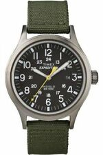 Mens Timex Indiglo Expedition Scout Green Nylon Band with Date Watch T49961