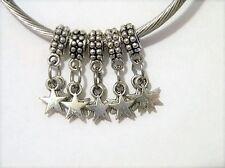 Star Dangle European Charm Bead Set 5pc Lot