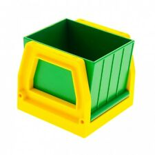 1 x Lego Duplo Eisenbahn Aufsatz Rahmen gelb Zug Abteil Container grün Trichter