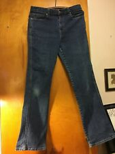 "Kate Hill Women's Stretch Bootcut Dark Wash Jeans~Size 10~32"" Length~Pre-Owned"