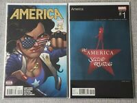America #1 2nd printing regular cover & Hip Hop variant cover - America Chavez