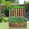 Wooden Raised Elevated Garden Bed Planter Box Kit Flower Vegetable Outdoor Pine