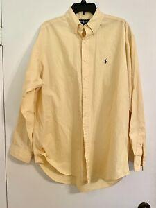 Polo Ralph Lauren Sz L Blake Oxford Long Sleeve Button Down Yellow