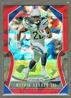 Melvin Gordon III 2019 Prizm Football RED ICE #221 Los Angeles Chargers