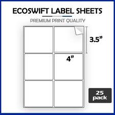 150 4 X 3 13 Ecoswift Laserink Address Shipping Adhesive Labels 6 Per Sheet