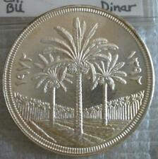 IRAQ 1 Dinar 1972 Silver UNC Crown 25th Anniversary of the Central Bank