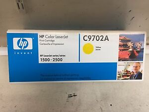 GENUINE HP C9702A COLOUR LASER JET TONER - YELLOW  Brand new & Sealed