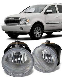 2007-2009 CHRYSLER Aspen Clear Lens Replacement Fog Light Assembly Pair L/R
