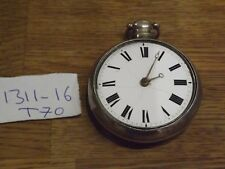 LIVERPOOL ANTIQUE HENRY HARDY  SOLID SILVER FUSEE VERGE PAIR CASED POCKET WATCH