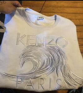 Men's L Kenzo Paris Embroidered Sweatshirt, White