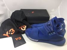 Y3 QASA HIGH ROYAL BLUE SIZE 9.5 ADIDAS Used With Box a72dd0b9f