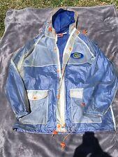 Vtg 90s Pro Player Florida Gators Full Zip Windbreaker/ Raincoat Jacket Men sz L