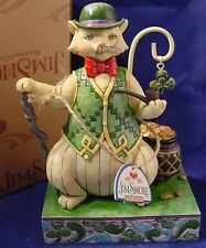Jim Shore 'Charmed To Be Sure' Cat in Top Hat  Shamrock #4020467 NIB