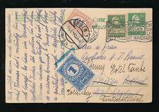 POSTAGE DUE 1921 ITALY AUSTRIA SWITZERLAND STATIONERY REDIRECTED