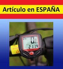 14 Pro LCD VELOCIMETRO WATERPROOF BICI bicicleta ROJO mtb cables resistente agua