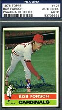 BOB FORSCH PSA/DNA AUTHENTICATED SIGNED 1976 TOPPS AUTOGRAPH