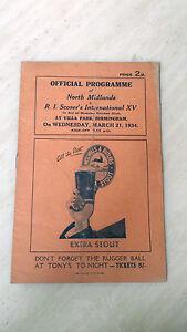 1933/34 Rugby Union Game- NORTH MIDLAND v RI SCHOOLS XV @ Aston Villa, 21 March
