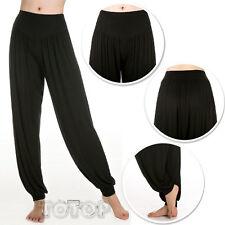 Womens Causal Gypsy Dance Yoga Harem Pants Wide Leg Baggy Trousers Plus UK 8-22