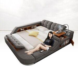 Genuine Italian Leather Smart Multifunction Modern Massage Bed