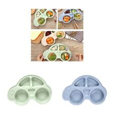 Set 2 Lovely Car Shaped Meal Tray Food Fruit Plate for Baby Toddler Kids
