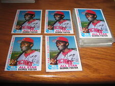 1982  Topps BB George Foster#342 all cards are EX/MT 4 Card Lot signed Free Ship