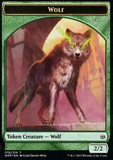 4x Wolf Token | NM/M | War of the Spark | Magic MTG