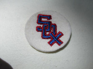 """1960s Vintage Baseball Cloth patch Chicago White Sox    2"""" NOS"""