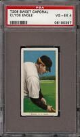 Rare 1909-11 T206 Clyde Engle Sweet Caporal 350 New York PSA 4 VG - EX