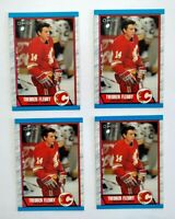 Theo Fleury 1989-90 OPC RC Lot of 4 Rookies Theoren Calgary Flames