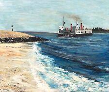 "Alistair Grant (1925-1997) ""Ferry at Etaples"" oil on canvas 1955"