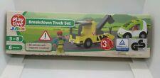 Playtive Junior Wooden Breakdown Truck Set for Wooden Rail / Train & Road Sets
