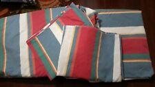 Ralph Lauren Cape Stripe Queen Flat Fitted 2 Standard Pillowcases