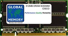 512mb Dram SoDIMM Cisco CAT 6500 & 7600 Enrutadores flexWAN Módulo