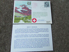 ESCAPE to SWITZERLAND  Hand SIGNED  RAF Escaping Society FDC - SEE PICTURES