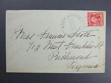 West Esmont Virginia VA Type 3/1 Doane Cancel Cover DPO 1905-06 Open 1 year LKU