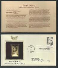 # 1874 EVERETT DIRKSEN, REPUBLICAN SENATOR FROM ILLINOIS 1981 Gold Foil Cover