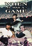 When It Was a Game (DVD, 2000)