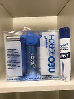 Whip-it Neo Torch Blue Combo free refill Premium 100 ml Butane Lighter Lifetime