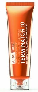 Acne Free Terminator 10 Acne Spot Treatment With Benzoyl Peroxide 10%  1 oz