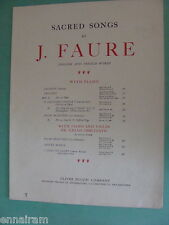 J Faure 1879 sacred sheet music Crucifix duet SA or TB French / English lyrics