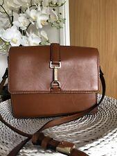 M&S Autograph Tan Brown Leather Cross Body /Shoulder Bag