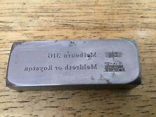 More details for vintage melbourn railway ticket printing block