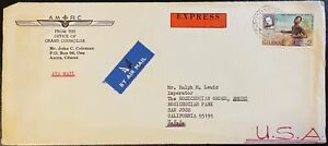 1980 Ghana #706 on Christianshorg Special delivery cover to US; drums    *d