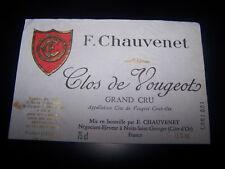 etiquette vin Clos Vougeot grand cru Chauvenet wine label wein etikett