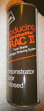 Vintage RARE GILLETTE FULL tin can Track II demonstrator razor,sample,full