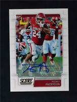 2019 Score Football Base Rookies Signatures Auto #340 Rodney Anderson